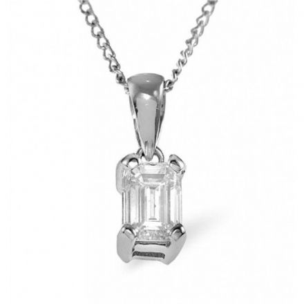 18K White Gold 0.33ct H/si Diamond Pendant, DP04-33HSW